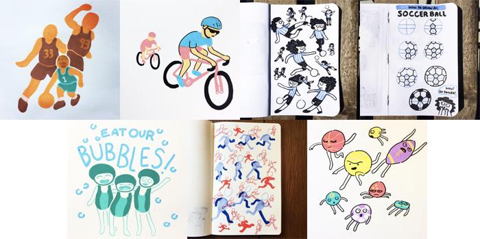 #MightCouldDrawToday Week 16: Sports. Christine Nishiyama, Might Could Studios