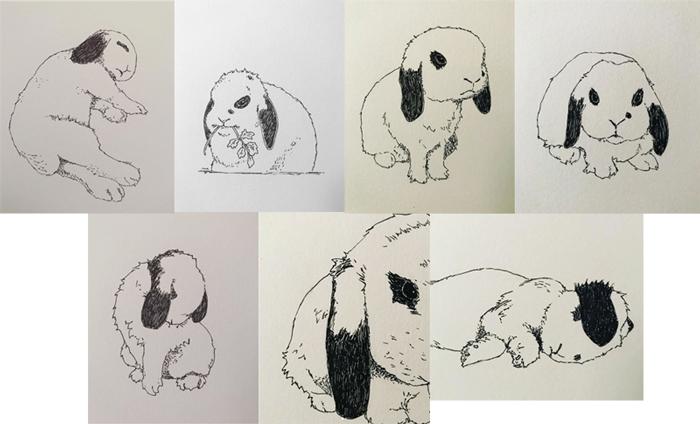 #MightCouldDrawToday Week 24: Bunnies. Art by MajorBummer.