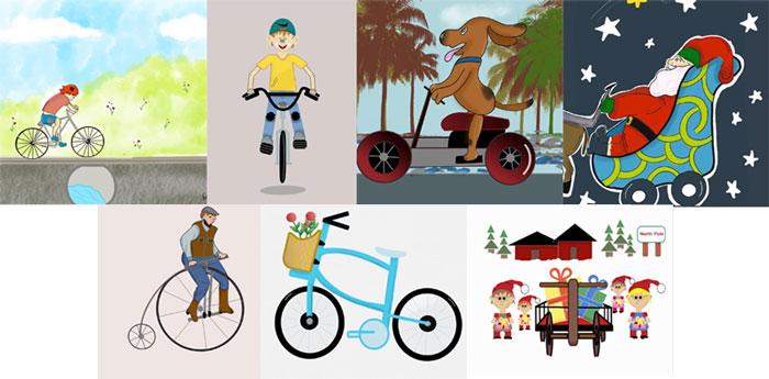 #MightCouldDrawToday Week 41: Cycles. Art by: Rachel Moninger.
