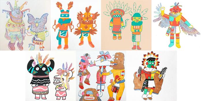 #MightCouldDrawToday Week 48: Southwestern U.S. Art. Christine Nishiyama, Might Could Studios.